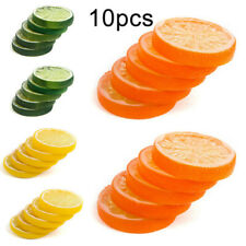 10pcs Decorative Artificial Fake Fruit Lemon Slice Simulation Lifelike Home Prop
