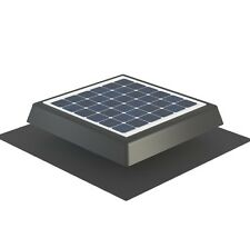 Acol Black EZYLITE PREMIUM SOLAR ROOF VENT FAN for Skylights & Roof Window 200mm