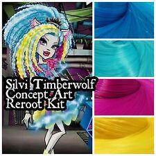 Monster high Silvi Timberwolf Custom OOAK Doll Re-root Pack Nylon Hair Kit