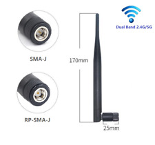dualband 2.4G&5G wifi Antenne 5dBi/20cm/90° foldable e.g. WiFi 5/6 Router