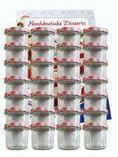 10 Sturzgläser 125ml Rot Kariert Marmeladengläser Einmachgläser Einweckglas