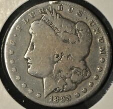 US 1893-CC - Silver Morgan Dollar - Good - Carson City
