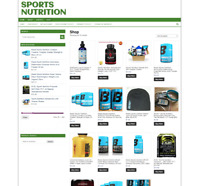 Sports Nutrition Website With One Years Hosting - New Domain - Ecommerce