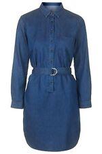 BNWT-Topshop mujeres Denim Moto Anillo en D Camisa Vestido Talla 6/8 (40) fue £/agotadas