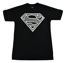 Superman Mens Black With Silver Logo Shirt New LT, XLT, 3XL