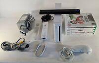 Nintendo Wii Console Bundle controller  Nunchuk 5 Family games leads sensor VGC