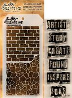 Inspirational Clear Acrylic Stamp & Stencil Set by Tim Holtz Stampers Anonymous