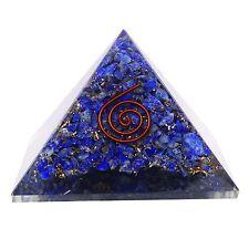 Lapis Lazuli Gemstone Orgone Pyramid Healing Generator Orgone Reiki Chakra5150