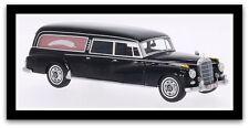 wonderful BOS-modelcar Mercedes-Benz 300d POLLMANN HEARSE 1959 - black - 1/43
