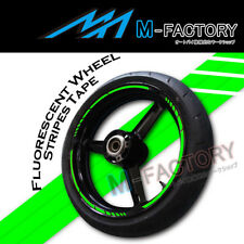 "Green Fluorescent Rim 17"" Wheel Decals Tape For Kawasaki ZX-10R Ninja 05 06-11"
