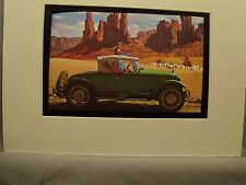 1927 Nash Roadster Auto artist  illustrated 1973  Esso changed name  to Exxon