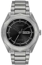 Citizen Eco-Drive Men's Grey Dial Super Titanium Bracelet 44mm Watch AW0060-54H