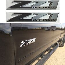 Flat Black Z71 Door Emblem Decal Inserts For 2014-2018 Silverado Sierra New USA