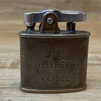 """Rare Ronson Vintage Pocket Lighter """"1945 Weisberg Kassel Scotland Wales France"""""""