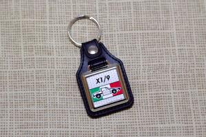 Fiat X1/9 Keyring - Leatherette & Chrome Keytag