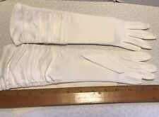Fownes Gloves White 15 Inch Long Size 6-7 Embraceable