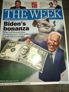 The WEEK.  March 19, 2021.  JOE BIDEN's Bonanza BIDEN DR. SEUSS -ROYAL REVENGE