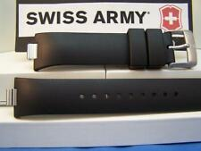 Swiss Army Watch Band Summit XLT Chrono. Black Resin Strap/Watchband With Pins