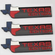 -3- BLACK XL Texas Edition Emblem Badge Ford 150 250 Tailgate Universal Stick On