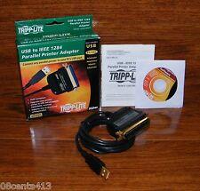 Tripp Lite (U206-006-R) USB To IEEE 1284 Parallel Printer Adapter Bundle *READ*