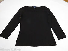 Womens women's Ann Taylor 3/4 sleeve XS black sweater top EUC pre-owned#