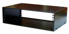 3U Rack Cabinet case 300mm Deep Wall Mounted with 2U Wall fixing back plate