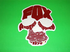FOX  RACING MOTOCROSS QUAD BMX SKATEBOARD RED FOX RIDERS 1974 STICKER DECAL