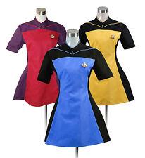 Star Trek TNG Skant Uniform Costume Cosplay Blue Yellow Red [Custom Made]