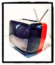 TELEVISORE TV Vintage CGE TP210/B 12 Pollici Bianco/Nero Anni '70 Bicolore