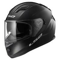 LS2 Stream EVO FF320 Gloss Black Full Face Motorcycle Motorbike Helmet