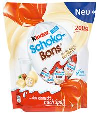 (100g=1,50€) Ferrero Kinder Schoko-Bons White Weiße Schokolade Schokobons 200g