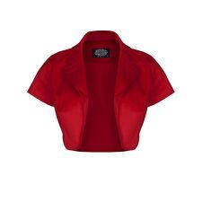 Hearts and Roses London Red Bolero Shrug Jacket 50's Retro Crop Rockabilly UK