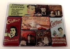 Coffee Kaffee Kühlschrankmagnet Fridge Refrigerator Magnet 8er Set