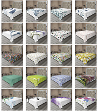 Ambesonne Flower Art Flat Sheet Top Sheet Decorative Bedding 6 Sizes