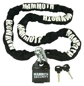 MAMMOTH MOTORCYCLE AND SCOOTER SECURITY LOCK & CHAIN 1.8m HEAVY DUTY