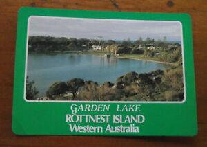 Retro Vintage Postcard: Garden Lake, Rottnest Island, W.A.