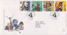 GB ROYAL MAIL FDC FIRST DAY COVER 1999 SETTLERS' TALE STAMP SET PLYMOUTH PMK