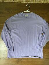 Port & Co. Long Sleeve Lavender XL Thick men's basic T shirt NWOT Color Of 2020!