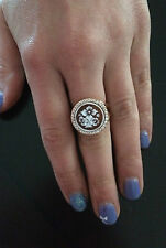 Anello in argento 925 cammeo CZ sardonico ring cameo flower Made in Italy