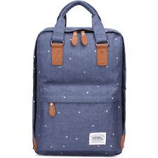 Kaukko Stylisch Laptop Handtasche Schulrucksack Daypacks Blau