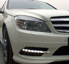 2x White LED Daytime Day Fog Light DRL For Mercedes W204 c260 C300 sport 08~11