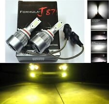 LED Kit C6 72W 9005 HB3 3000K Yellow Two Bulbs Head Light Dual Beam Replacement