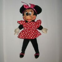 """11"""" VINTAGE APPLAUSE TOTALLY MINNIE MOUSE DISNEY STUFFED ANIMAL PLUSH TOY DOLL"""