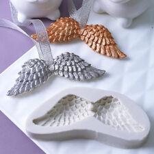 Ala de ángel Bautizo Del Bebé Decoración Molde Fondant Sugarcraft Pastel de Silicona Molde