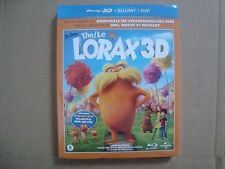 Dr.Seuss THE LORAX 3 Disc blu-ray + 3D BR + DVD + GIANT Poster limited slipcover