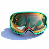 Light Green Anti-Fog UV Dual Lens Ski Goggle Skiing Snowboard Eyewear Glasses