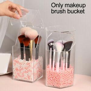 Clear Acrylic Makeup Brush Holder With Lid Dustproof Organizer Storage Case UK