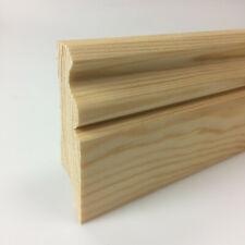 6x Stck - Sockelleiste Hamburger Fußleiste Bodenleiste Holz Kiefer Massivholz