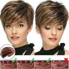 Womens Natural Short Curly Hair Bangs Wigs Ladies Pixie Cosplay Party Synthetic