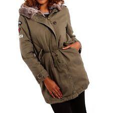 Markenlose hüftlange Damenjacken & -mäntel aus Baumwolle mit Reißverschluss